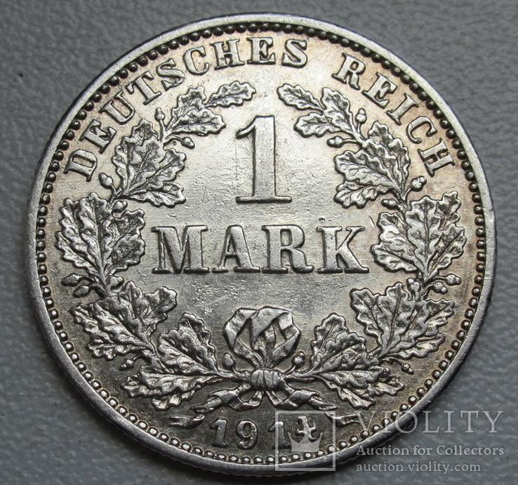 1 марка 1914 г. (G), Германия, серебро, фото №6