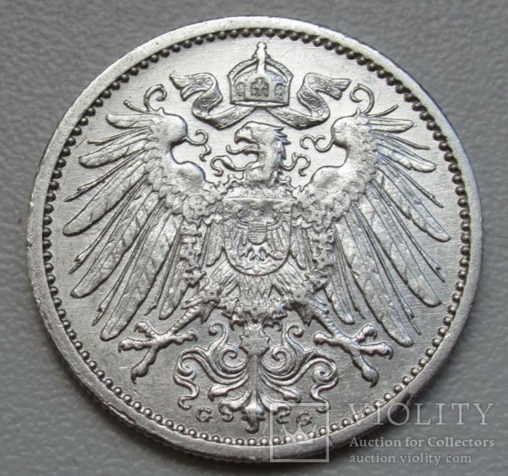 1 марка 1914 г. (G), Германия, серебро, фото №7