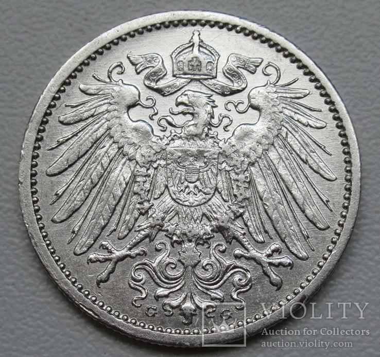 1 марка 1914 г. (G), Германия, серебро, фото №11