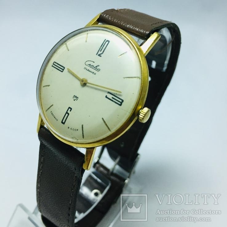 Часы Слава с женским механизмом AU20 тонкий корпус, фото №3