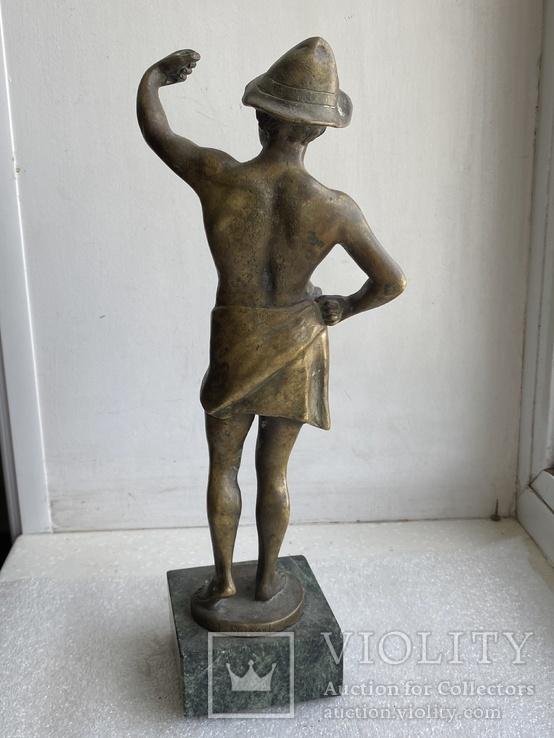 Скульптура Рыбак бронзовая старая Европа подписная, фото №11