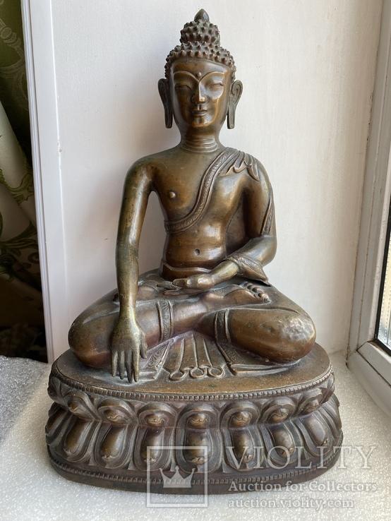 Скульптура статуэтка Будда старинная авторская подписная, фото №2