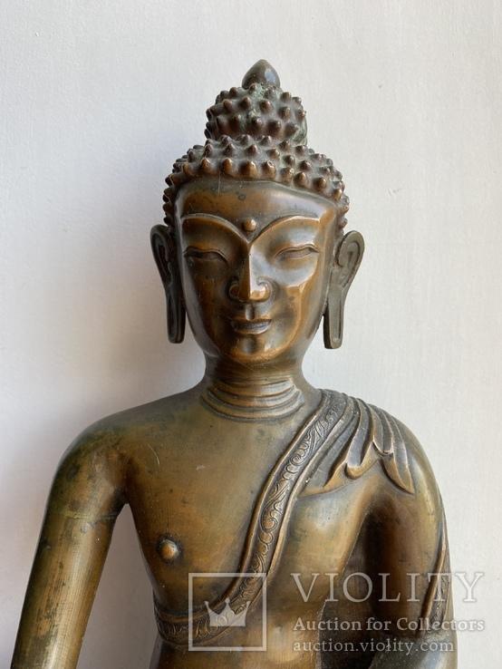 Скульптура статуэтка Будда старинная авторская подписная, фото №3