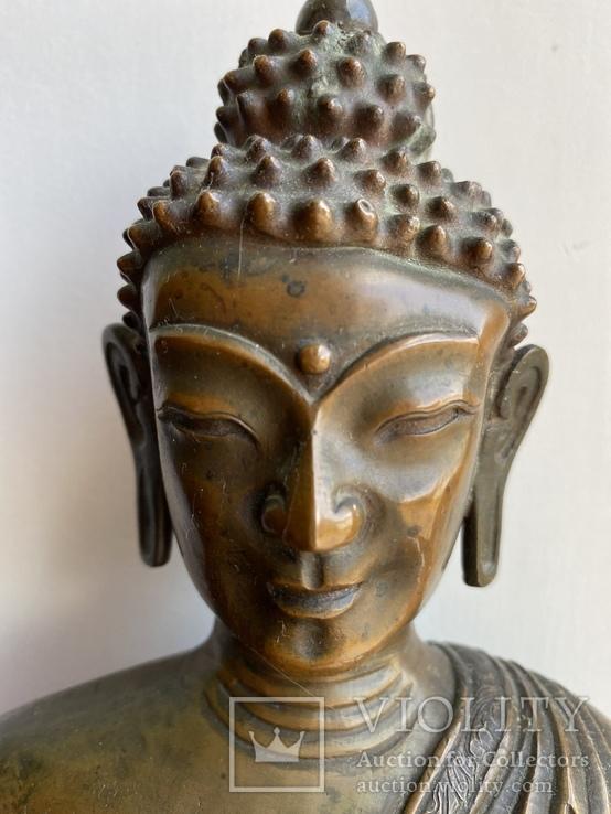 Скульптура статуэтка Будда старинная авторская подписная, фото №4