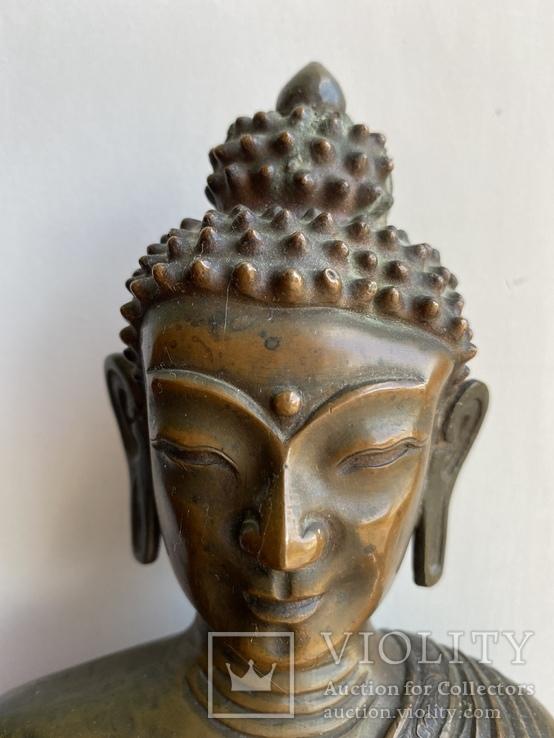 Скульптура статуэтка Будда старинная авторская подписная, фото №5
