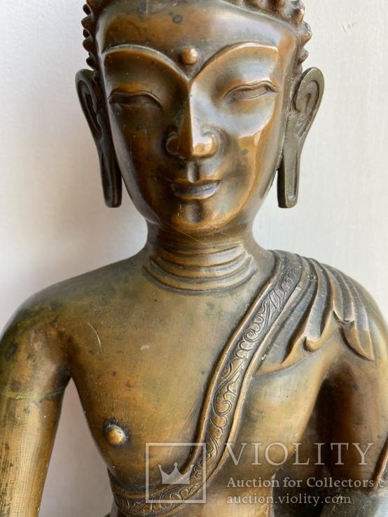 Скульптура статуэтка Будда старинная авторская подписная, фото №6