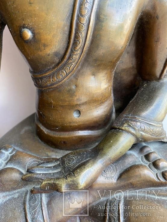 Скульптура статуэтка Будда старинная авторская подписная, фото №8