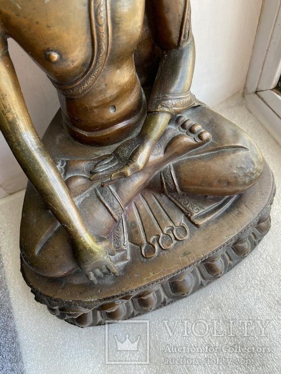 Скульптура статуэтка Будда старинная авторская подписная, фото №9