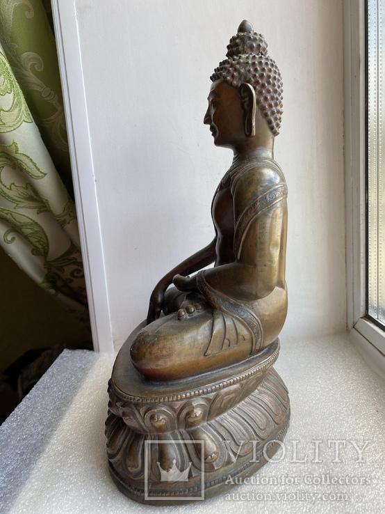 Скульптура статуэтка Будда старинная авторская подписная, фото №11