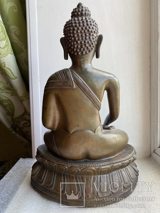 Скульптура статуэтка Будда старинная авторская подписная, фото №12