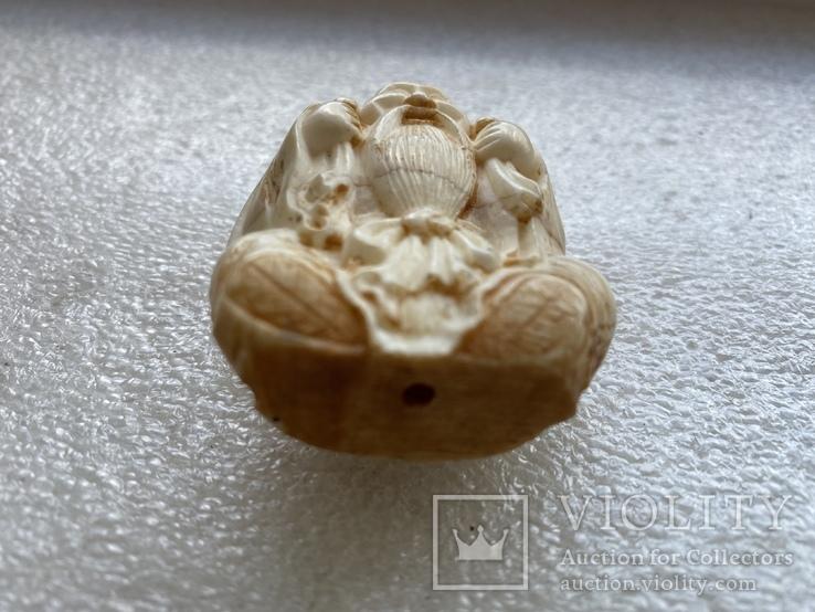 Резное изделие мудрец слоновая кость, фото №7