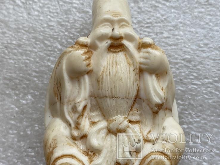 Резное изделие мудрец слоновая кость, фото №8