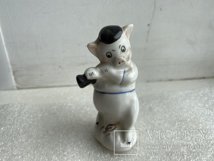 Статуэтка Поросёнок с дудочкой Артель, фото №2