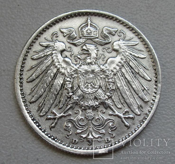 1 марка 1915 г. (D), Германия, серебро, фото №7