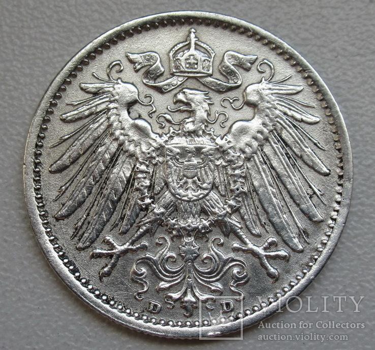 1 марка 1915 г. (D), Германия, серебро, фото №8