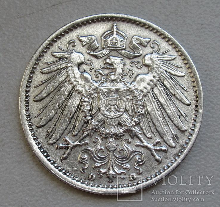 1 марка 1915 г. (D), Германия, серебро, фото №11