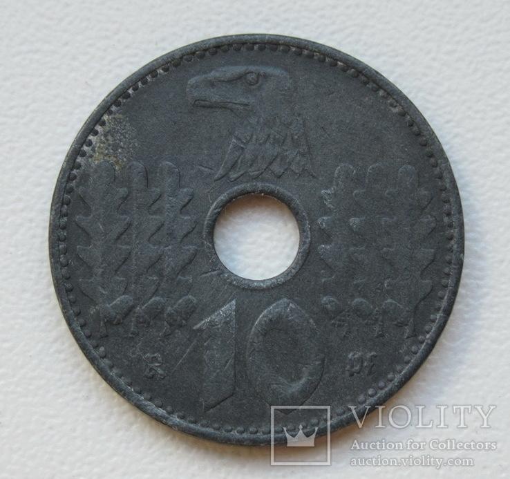 10 пфеннигов 1940 г. Третий рейх (для оккупированных территорий), фото №3
