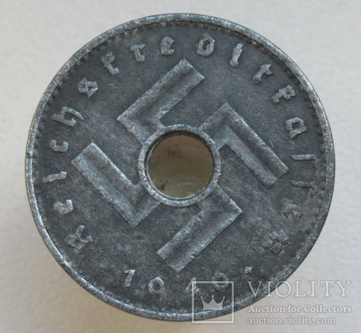 10 пфеннигов 1940 г. Третий рейх (для оккупированных территорий), фото №6