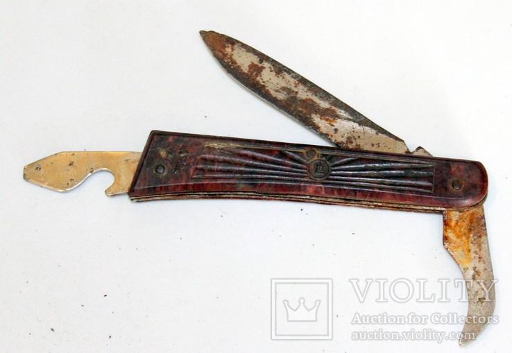 Складной туристический нож времен СССР на реставрацию-ремонт-запчасти, фото №6