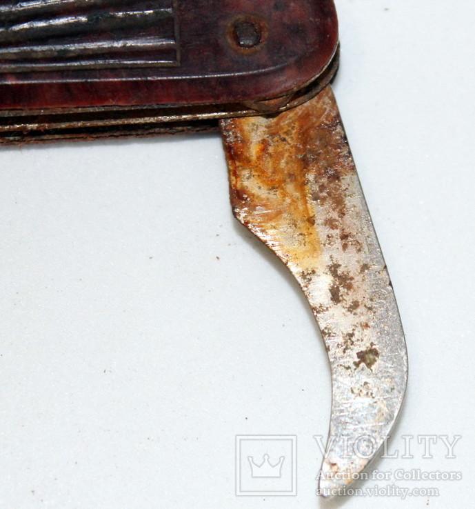 Складной туристический нож времен СССР на реставрацию-ремонт-запчасти, фото №9