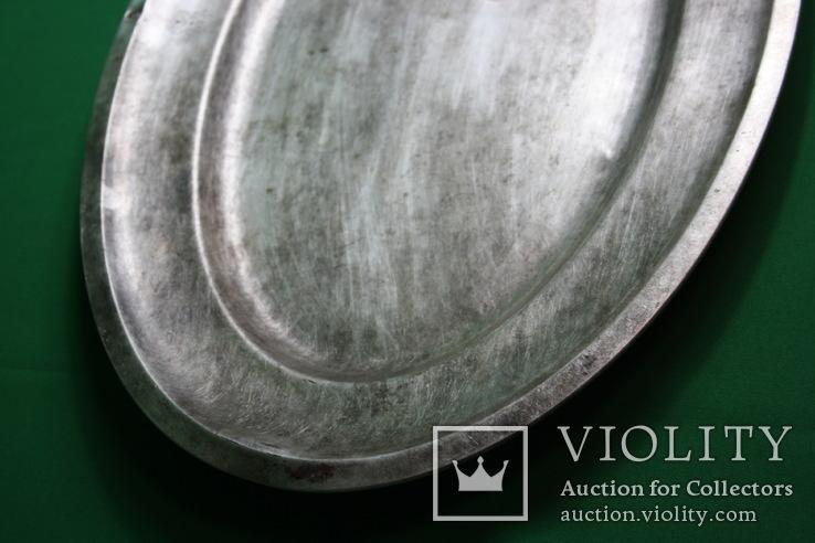 Большой поднос глубокое сребрение., фото №4
