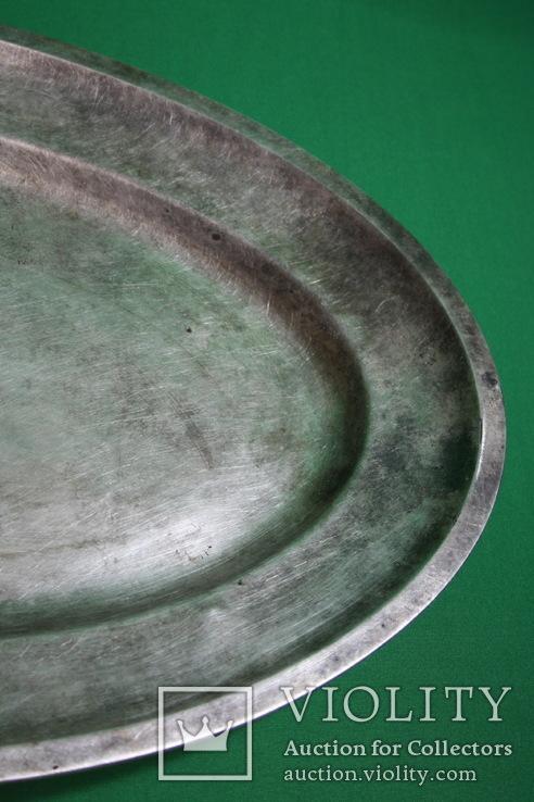 Большой поднос глубокое сребрение., фото №5