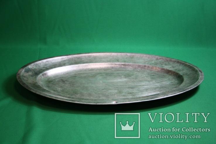 Большой поднос глубокое сребрение., фото №8