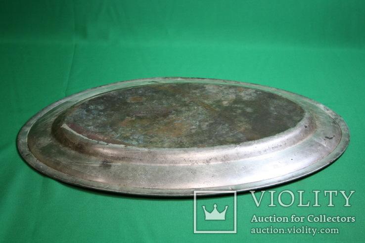 Большой поднос глубокое сребрение., фото №9