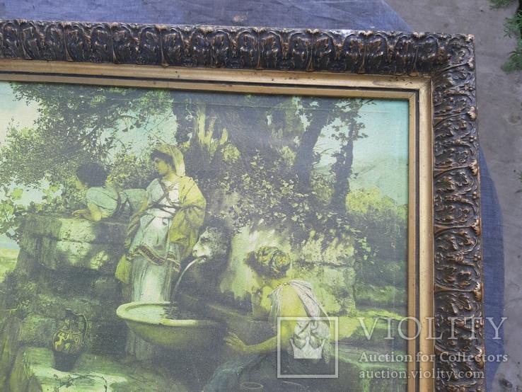 У источника. Репродукция картины 75×55, фото №10