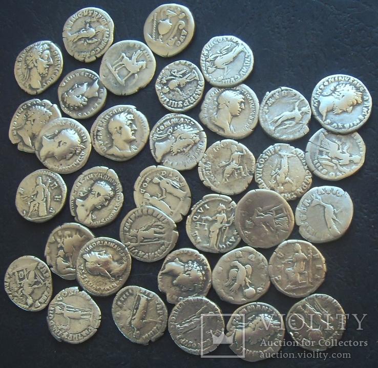 Монеты древнего Рима (денарии) 35 штук., фото №3