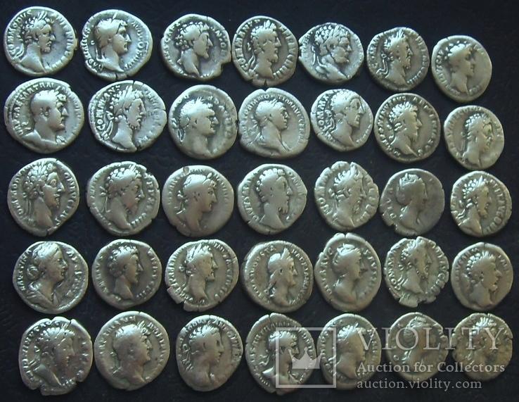 Монеты древнего Рима (денарии) 35 штук., фото №4