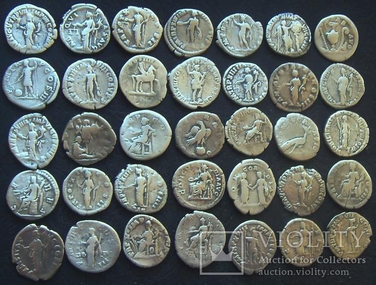 Монеты древнего Рима (денарии) 35 штук., фото №5