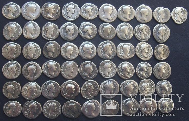 Монеты Древнего Рима (денарии) 55 штук., фото №4