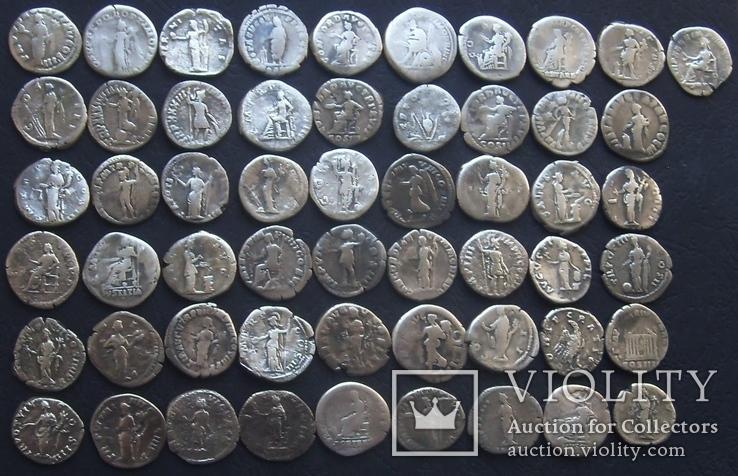 Монеты Древнего Рима (денарии) 55 штук., фото №5