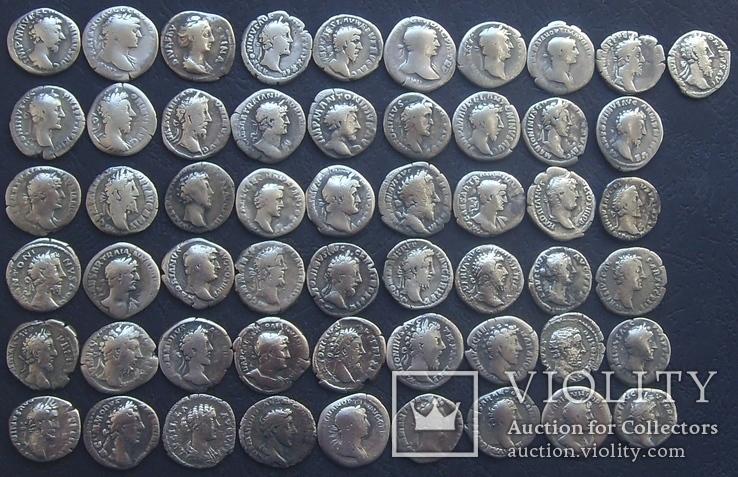 Монеты Древнего Рима (денарии) 55 штук., фото №6