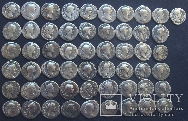 Монеты Древнего Рима (денарии) 55 штук., фото №8