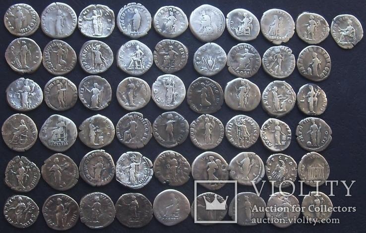 Монеты Древнего Рима (денарии) 55 штук., фото №9