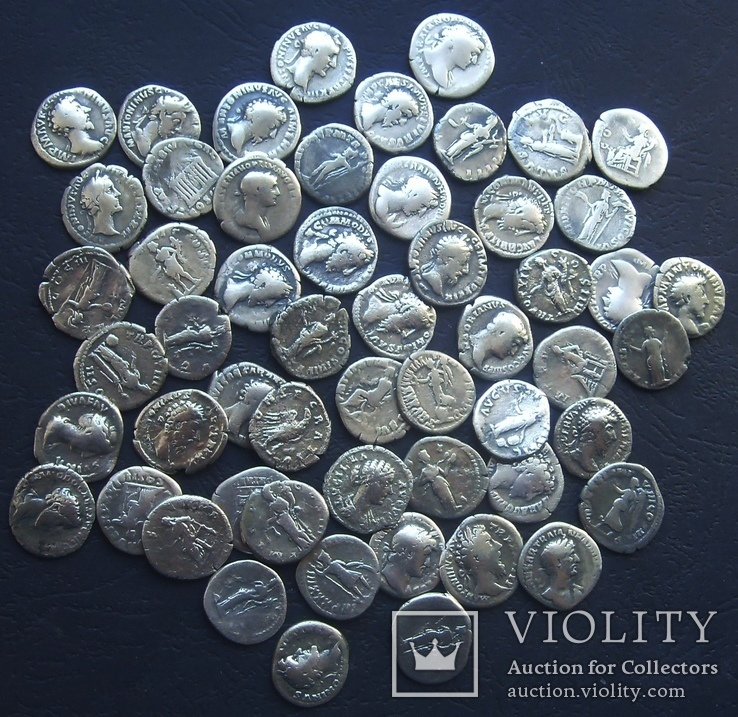 Монеты Древнего Рима (денарии) 55 штук., фото №10