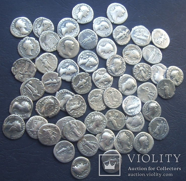 Монеты Древнего Рима (денарии) 55 штук., фото №11