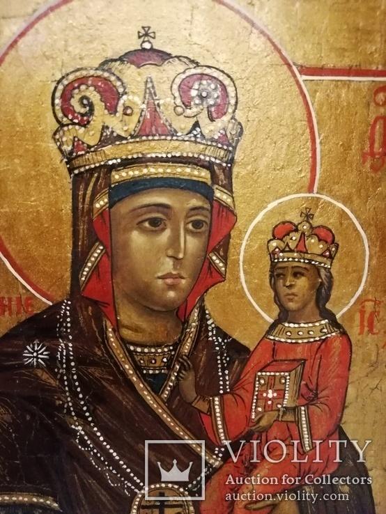 """Икона """"Богородица Умягчение злых сердец"""". 18*15.5., фото №4"""