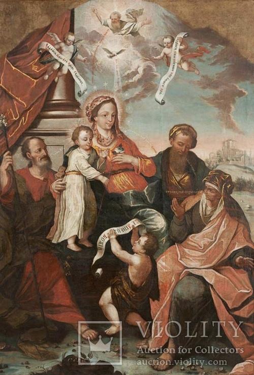 Икона Святое семейство Украина 1785 год, фото №3