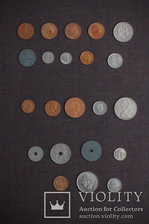 Мини коллекция монет Бельгии, Голландии и Великобритании. 22 монеты., фото №3