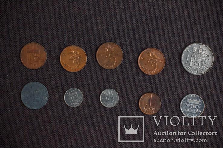 Мини коллекция монет Бельгии, Голландии и Великобритании. 22 монеты., фото №4