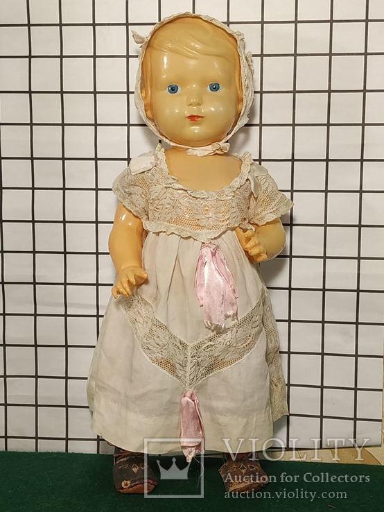 Целлулоидная кукла ОХК в старинном антикварном наряде, фото №2