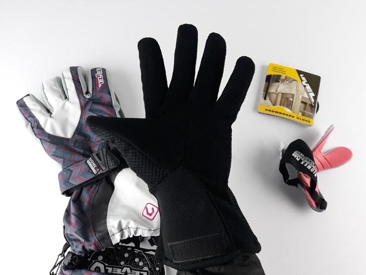 Перчатки зимние с защитой запястья Snowbord Level Glove (размер 7,5 - SМ) Сноуборд Лыжные, фото №5