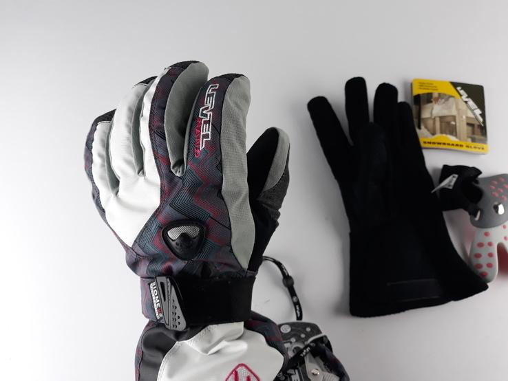 Перчатки зимние с защитой запястья Snowbord Level Glove (размер 7,5 - SМ) Сноуборд Лыжные, фото №8