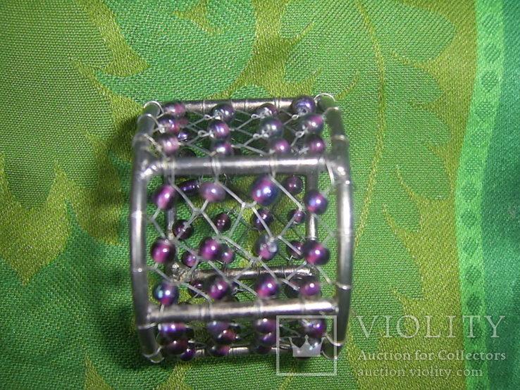Кольца для салфеток 4 шт. декорированные бусинами Европа, фото №3