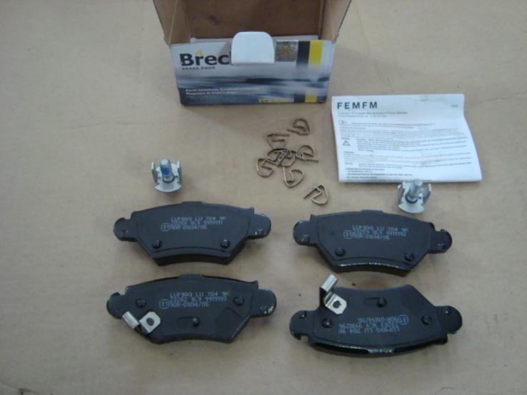 BRECK 23258 00 704 10 Комплект тормозных колодок OPEL