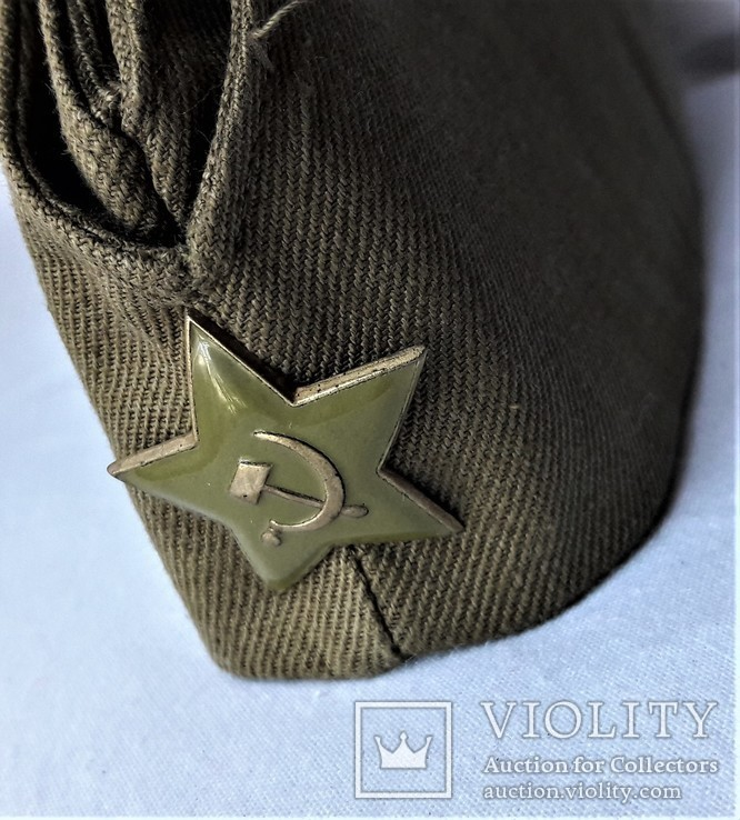 Пилотка ВС СССР, 56 размер, 1984г, клеймо, защитная звезда (2), фото №2