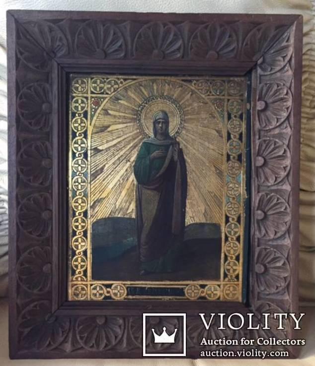 Икона Св. Анастасии, в родном резном киоте и раме., фото №2